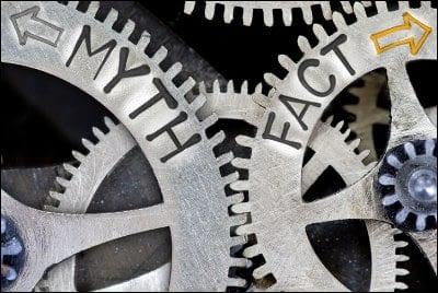 image of cogs representing myth and fact