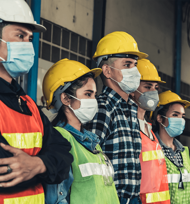 Photograph of construction workers